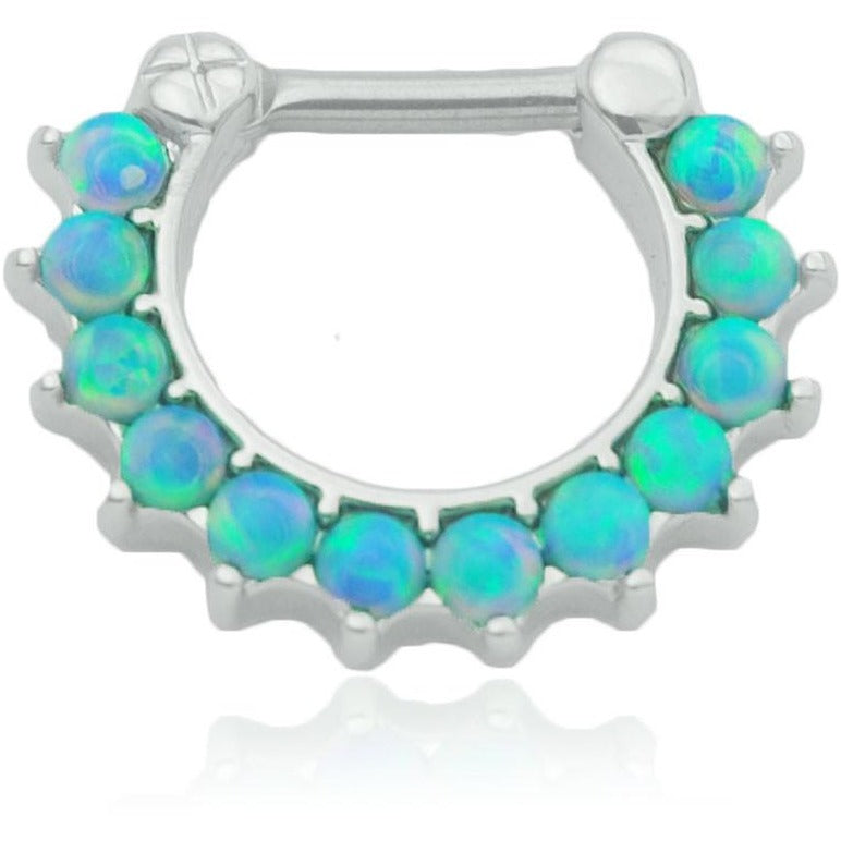 Light Blue Fire Opal Septum Clicker