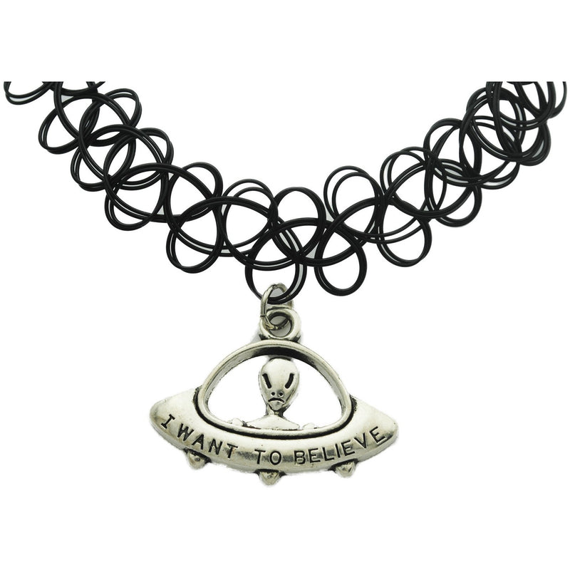 Alien Charm Tattoo Choker