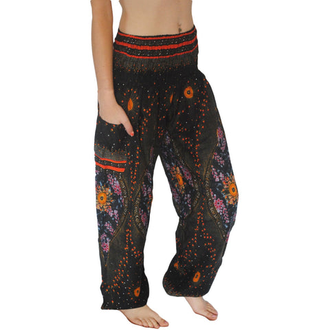 Black Galactic Harem Pants