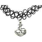 Anchor Charm Tattoo Choker