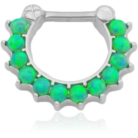 Light Green Fire Opal Septum Clicker