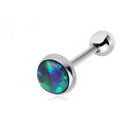 Blue/Green Fire Opal Cartilage Barbell