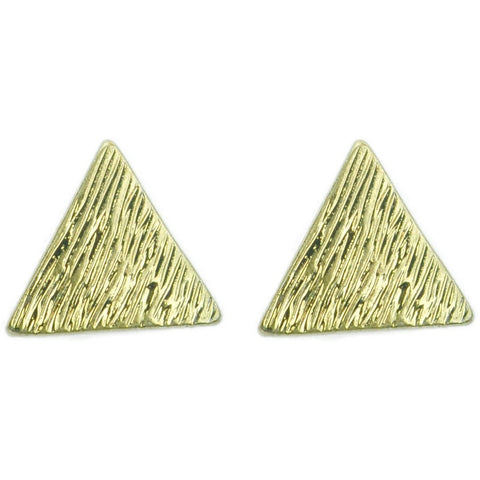 Gold Triangle Earring Studs