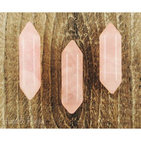 Double Terminated Rose Quartz Crystal Point