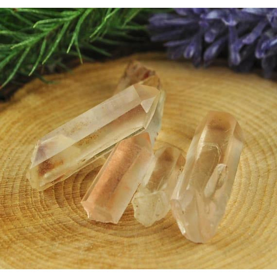 Pink Lemurian Seed Crystal Point