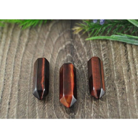 Double Terminated Red Tigers Eye Crystal Point