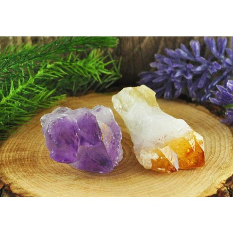 Citrine & Amethyst Crystal Point Bundle