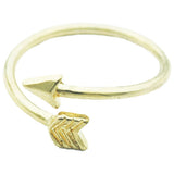 Gold Adjustable Arrow Ring