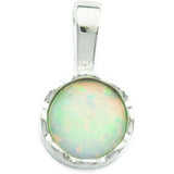 White Fire Opal Silver Necklace