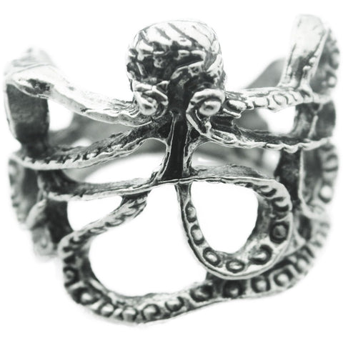 Antique Silver Octopus Ring