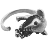 Antique Silver Elephant Ring
