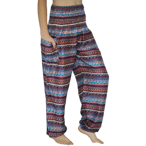 Purple/Blue Aztec Harem Pants
