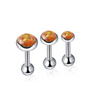 Orange Fire Opal Cartilage Barbell