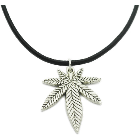 Pot Leaf Charm Choker