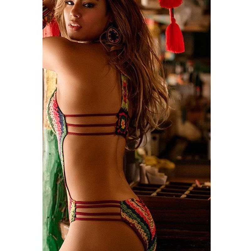 Boho Hollow Out Monokini