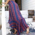 Sasha Boho Casual Split Maxi Skirt