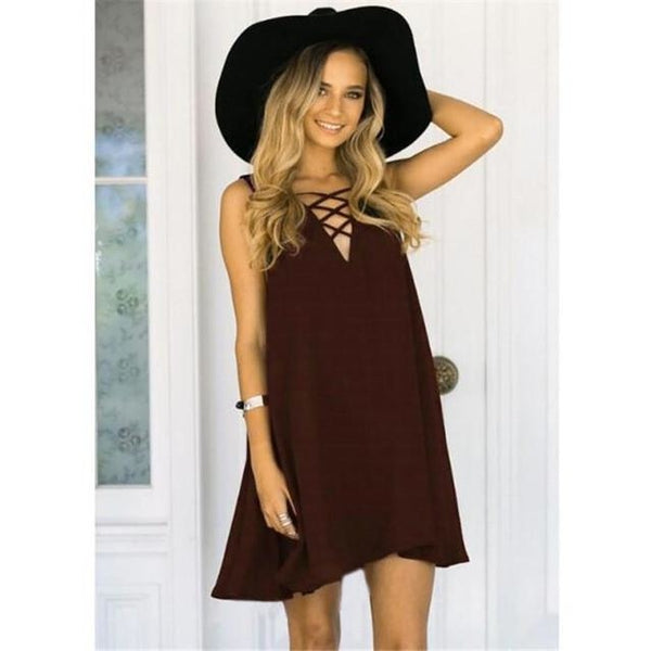 Women's Cross Front Dress