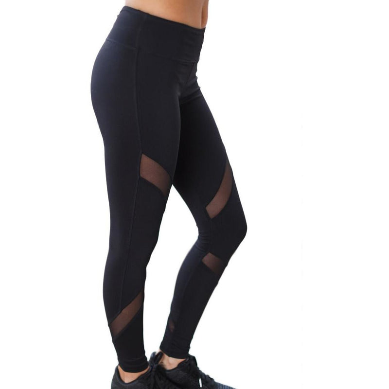 Yoga Athletic Mesh Leggings
