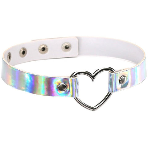Heart Shaped Holographic Choker