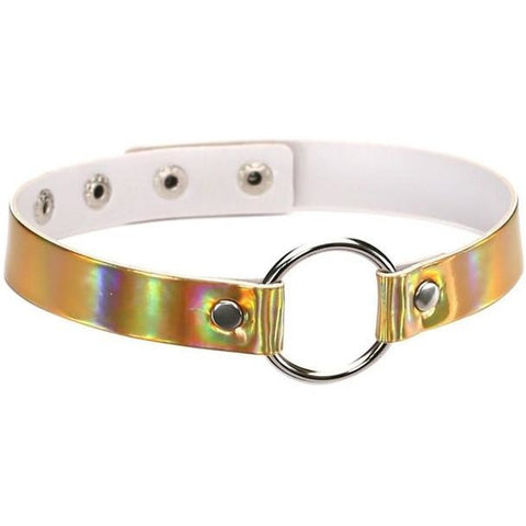 Rainbow Holographic Collar Choker