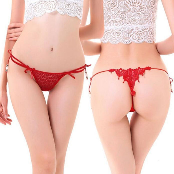 Red Lace Lingerie Thong