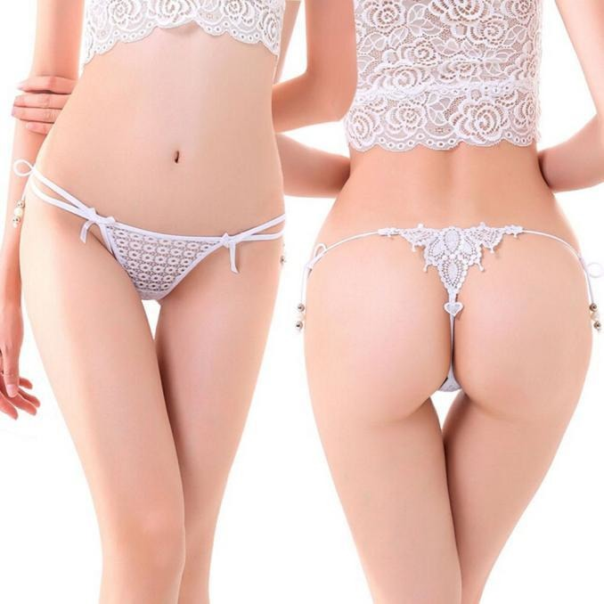 White Lace Lingerie Thong