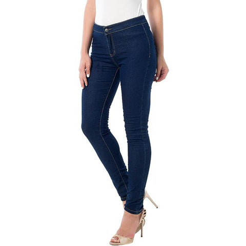 Slim High Waist Denim Jean Leggings
