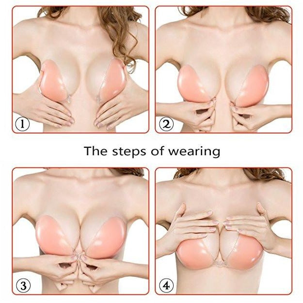 Invisible Strapless Push Up Silicone Bra