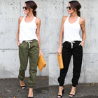 High Waist Sports Cargo Pants Outdoor Casual