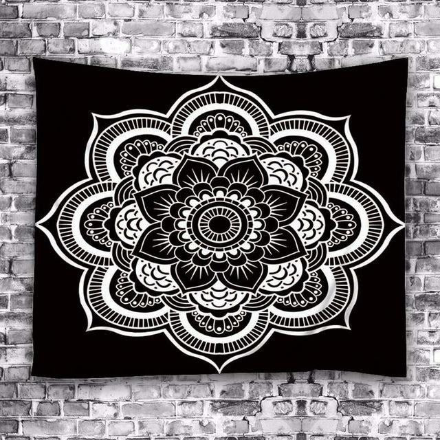 Bohemian Lotus Flower Tapestry