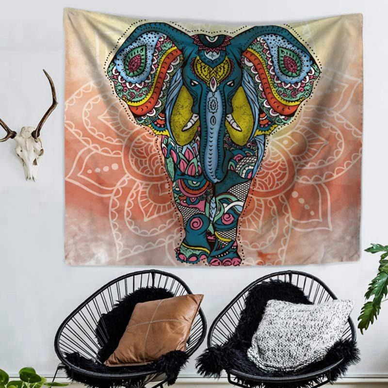 Boho Indian Elephant Tapestry