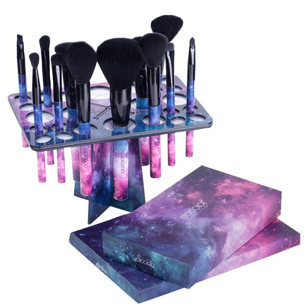 Galaxy Makeup Brush Set with Brush Holder