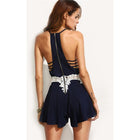 Navy Cut Out Sleeveless Romper