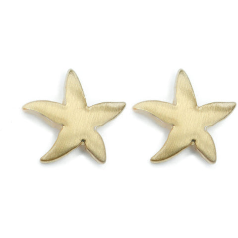 Gold Starfish Earring Studs