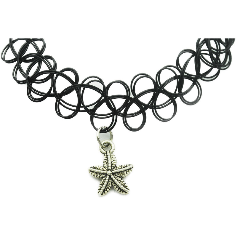Starfish Charm Tattoo Choker