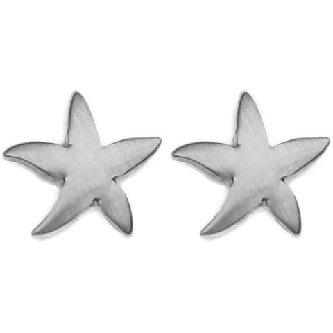 Steel Starfish Earring Studs