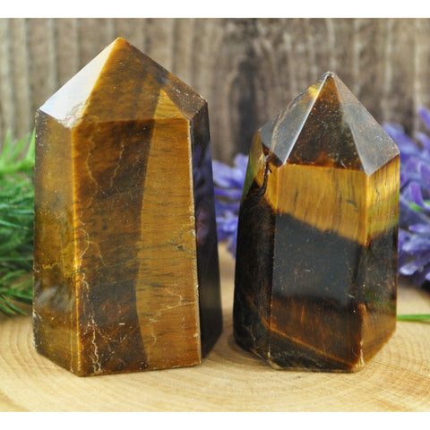 Tigers Eye Crystal Healing Tower