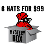 Mystery Box of 6 Hats for $99