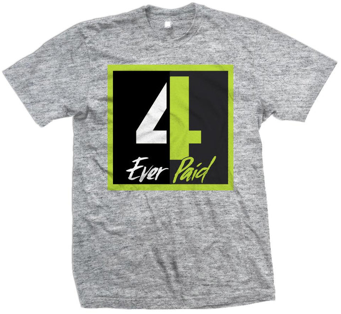 4 Ever Paid - Volt on Heather Grey T-Shirt