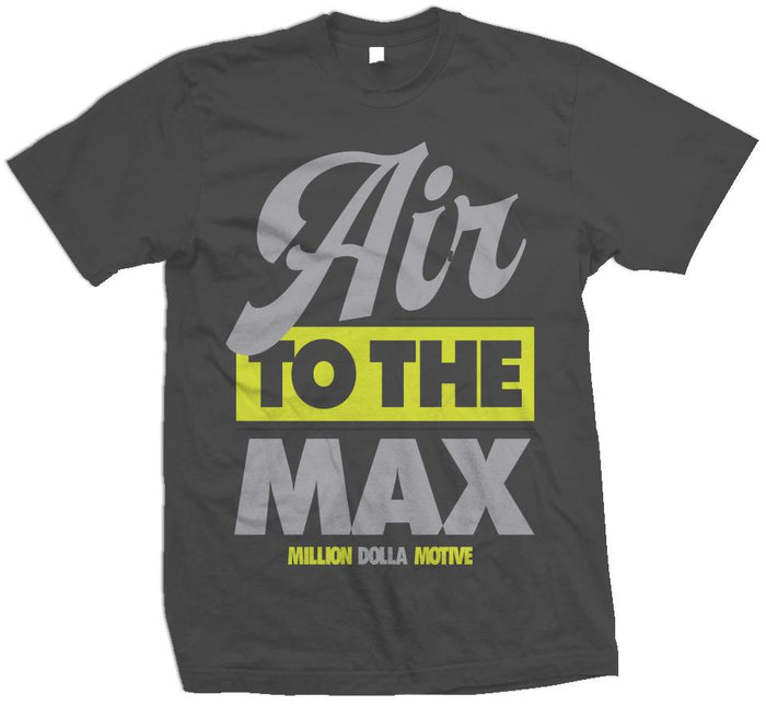 Air to the Max - Volt on Dark Grey T-Shirt