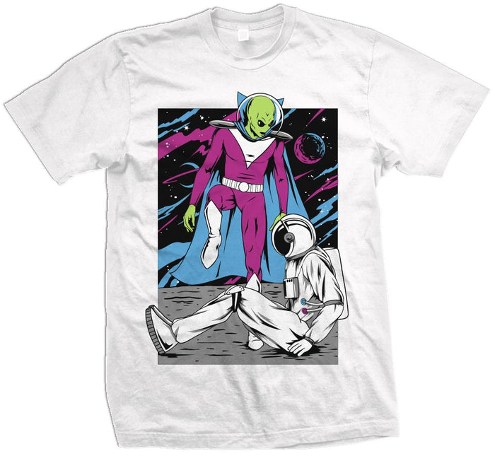 Alien Step Over - White T-Shirt