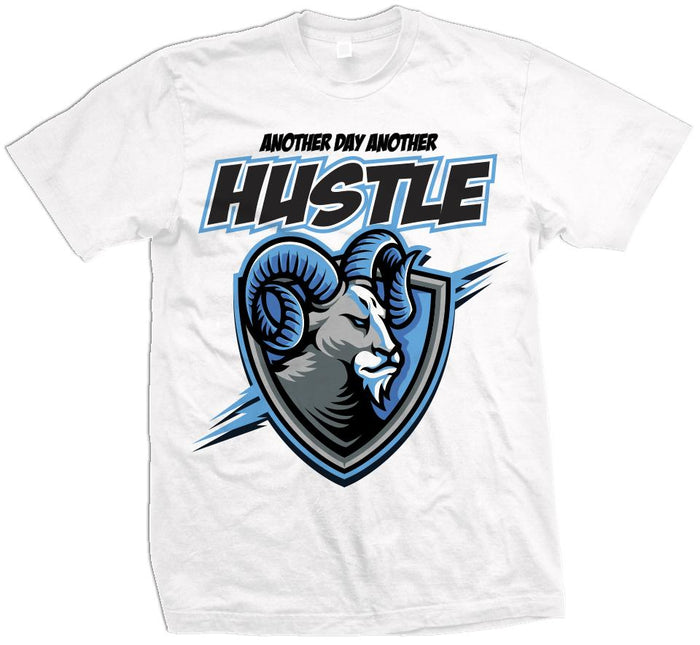Another Day Another Hustle Ram - White T-Shirt