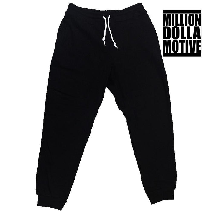 Black Terry Joggers - Million Dolla Motive