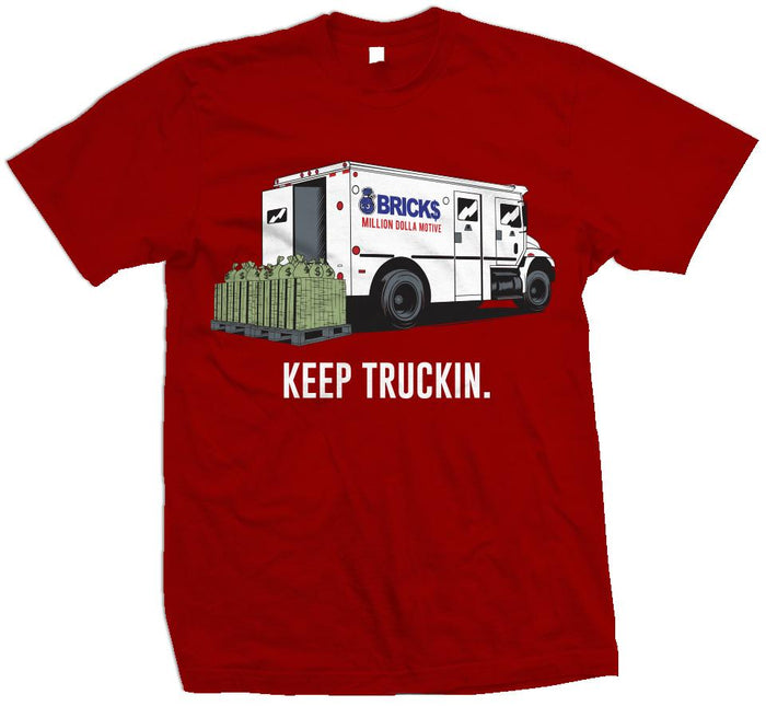 Bricks Truck - Red T-Shirt