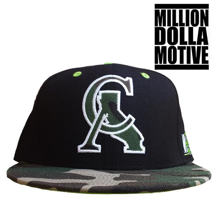 CA State of Mind Camo Forest Snapback Cap - Million Dolla Motive