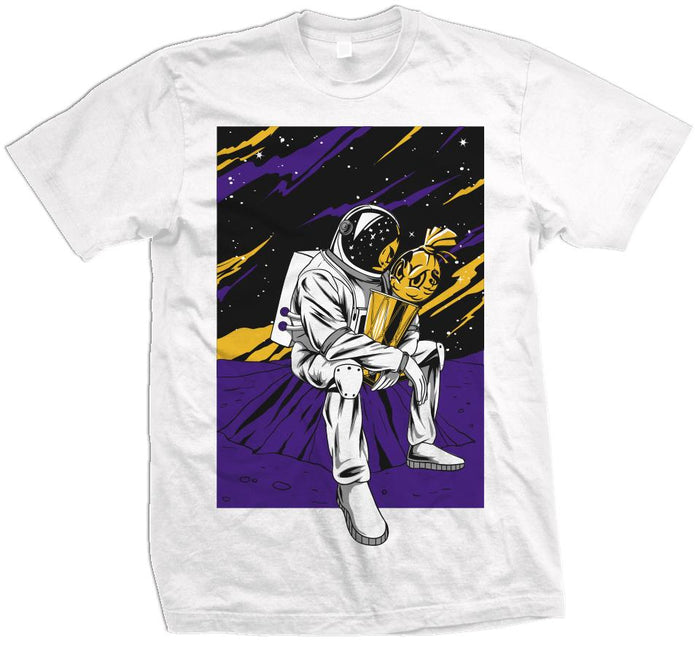 Champion In The Stars - Purple/Yellow on White T-Shirt