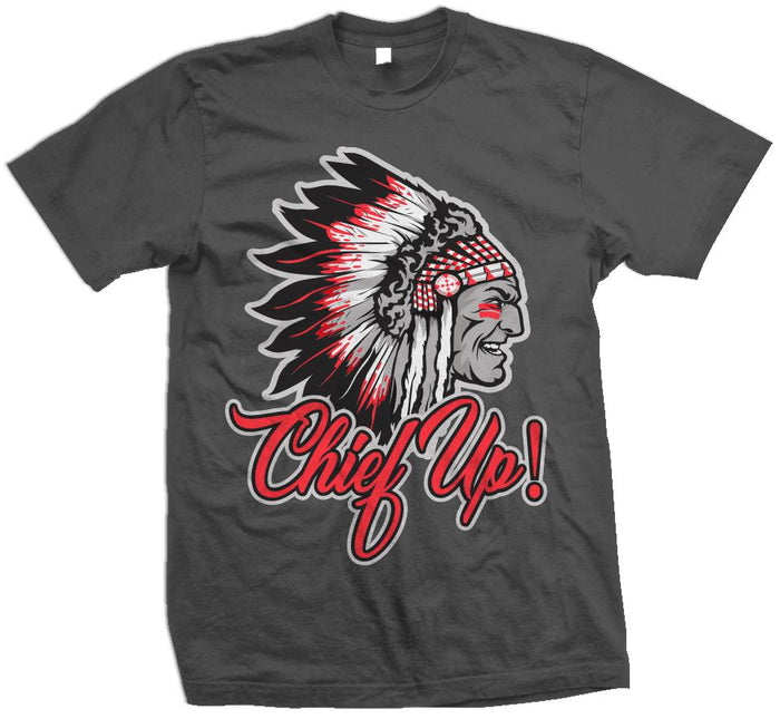 Chief Up - Infrared on D Grey T-Shirt