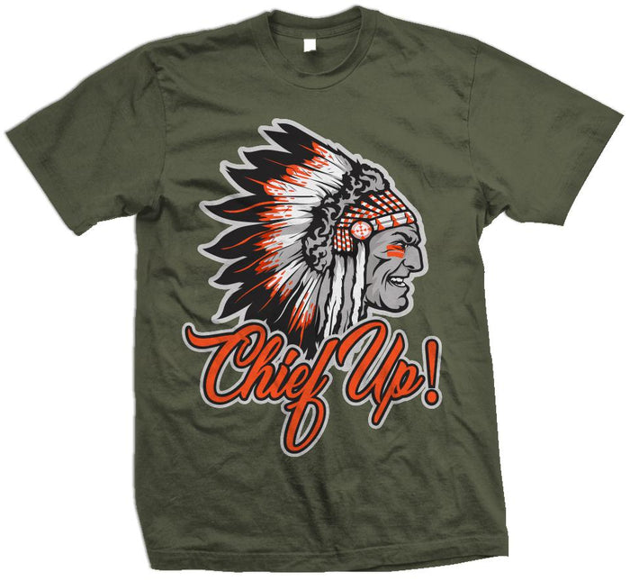 Chief Up - Orange on Olive T-Shirt - Million Dolla Motive