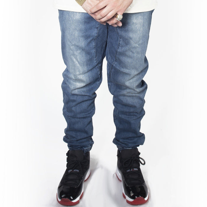 Dark Indigo Denim Jogger Pants JG803