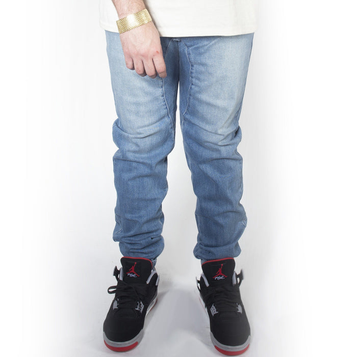 Light Indigo Denim Jogger Pants JG803